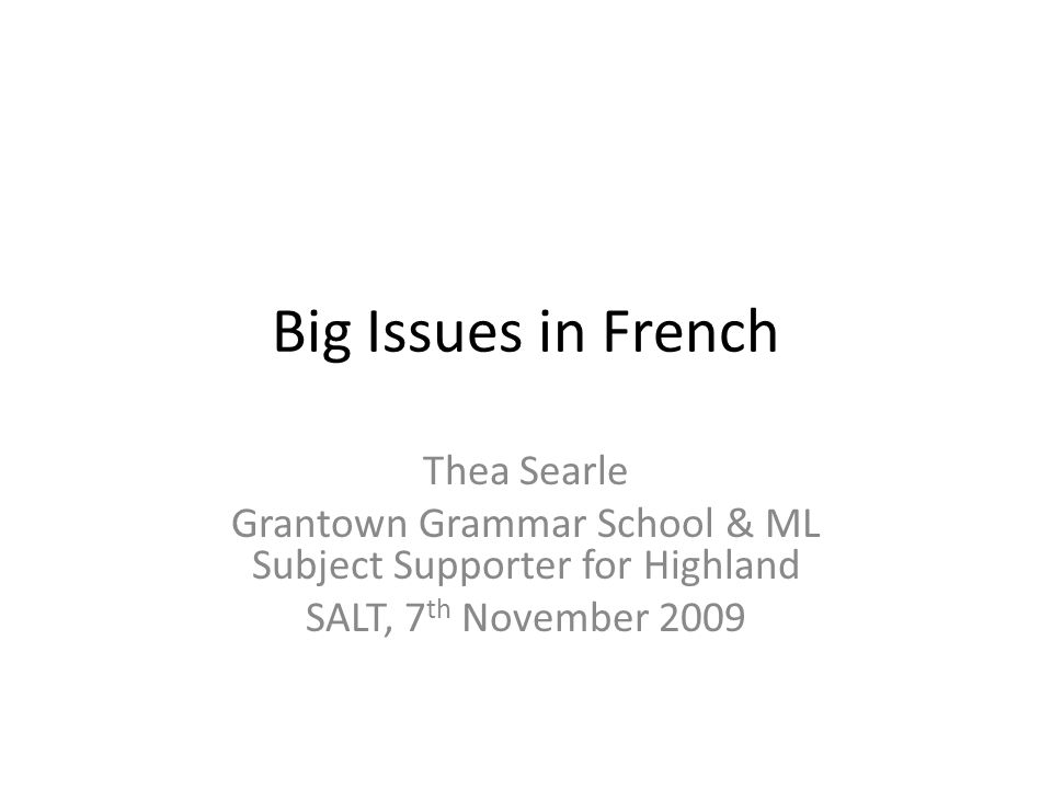 Big Issues What? How? Why? Case studies – conflict, human rights, environment Workshop activities