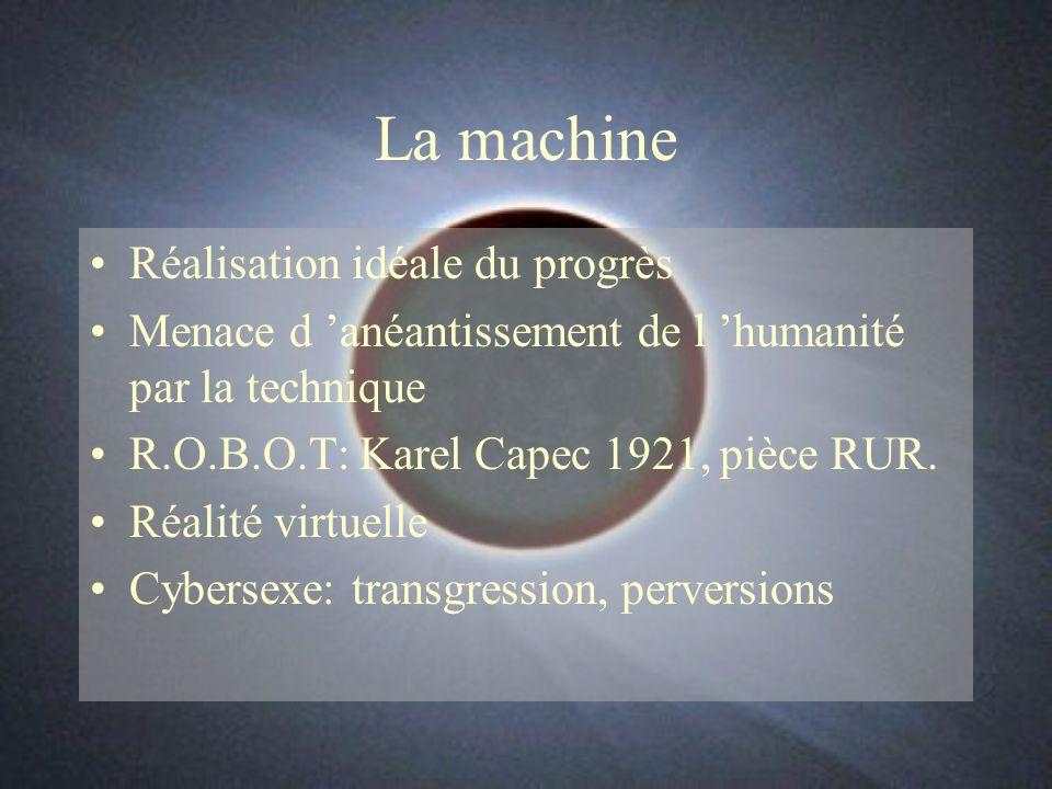 La machine Réalisation idéale du progrès Menace d anéantissement de l humanité par la technique R.O.B.O.T: Karel Capec 1921, pièce RUR.