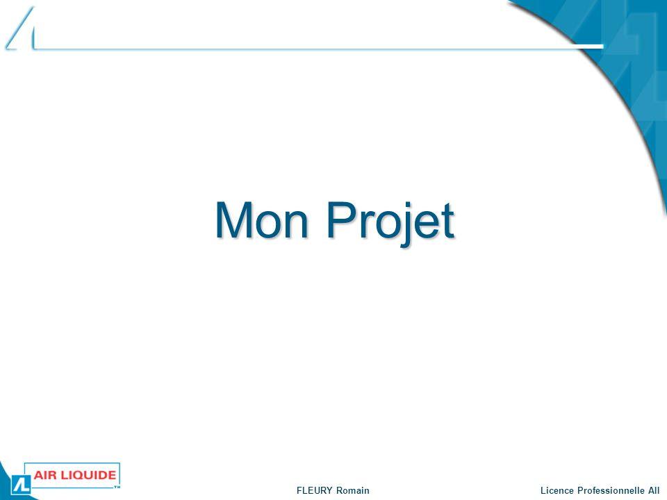FLEURY Romain Licence Professionnelle AII Mon Projet