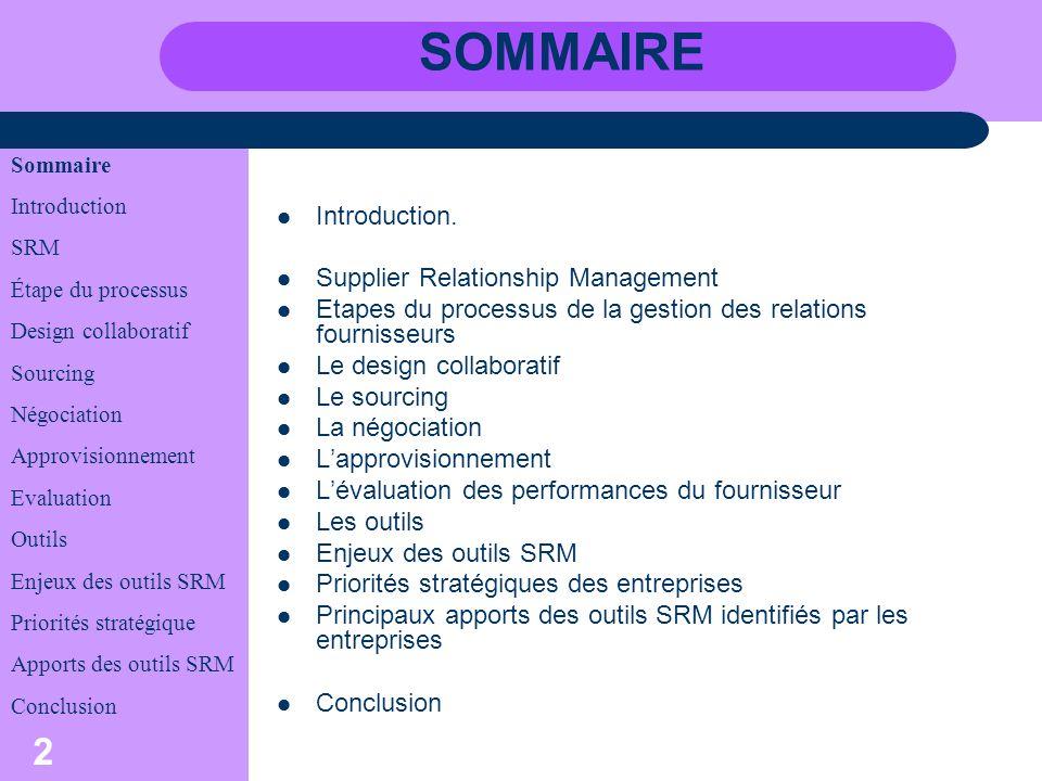 3 INTRODUCTION Le service achat cest: indispensable Supplier Relationship Management.