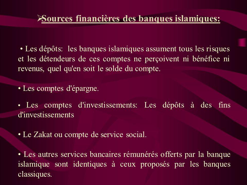 La banque islamique propose deux formes d'investissement: DIRECT : par lequel elle se charge du placement de capitaux dans des projets qui lui rapport
