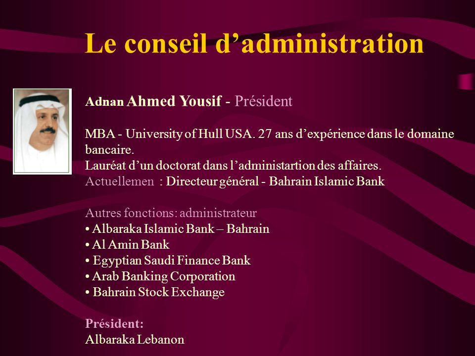 La direction Les conditions de sélection des dirigeants des banques islamique: musulman maîtrise de la finance islamique maîtrise du fiqh de la financ