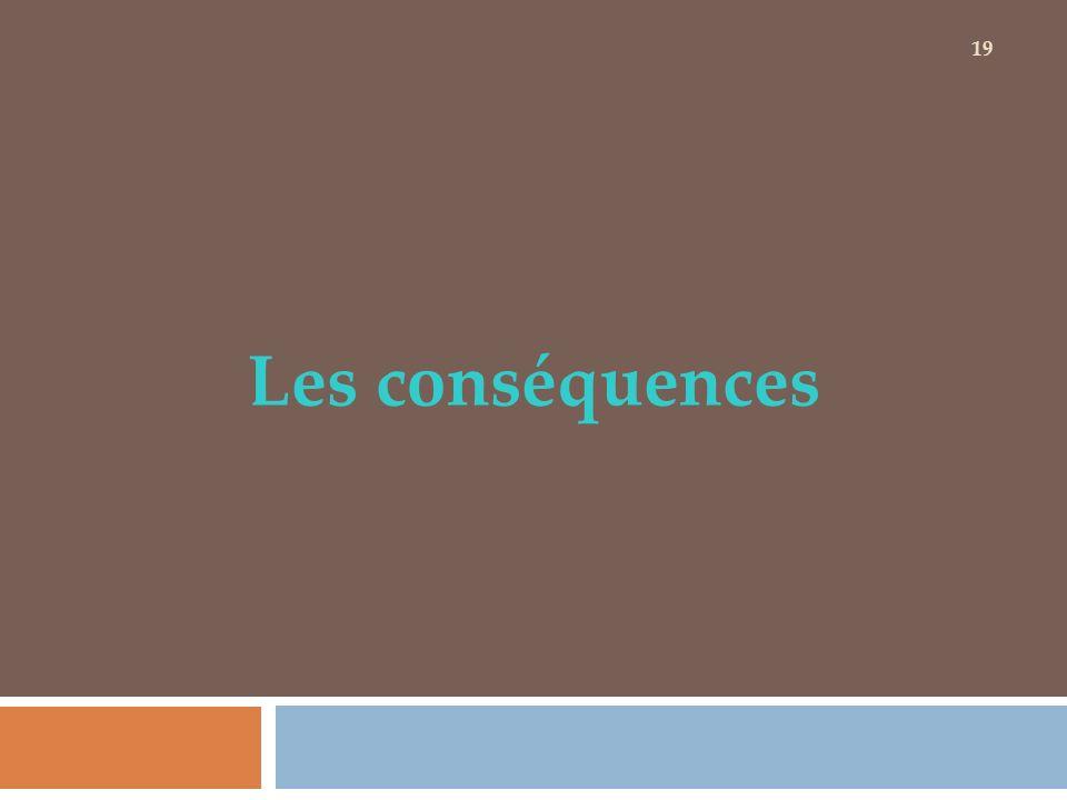 Les conséquences 19