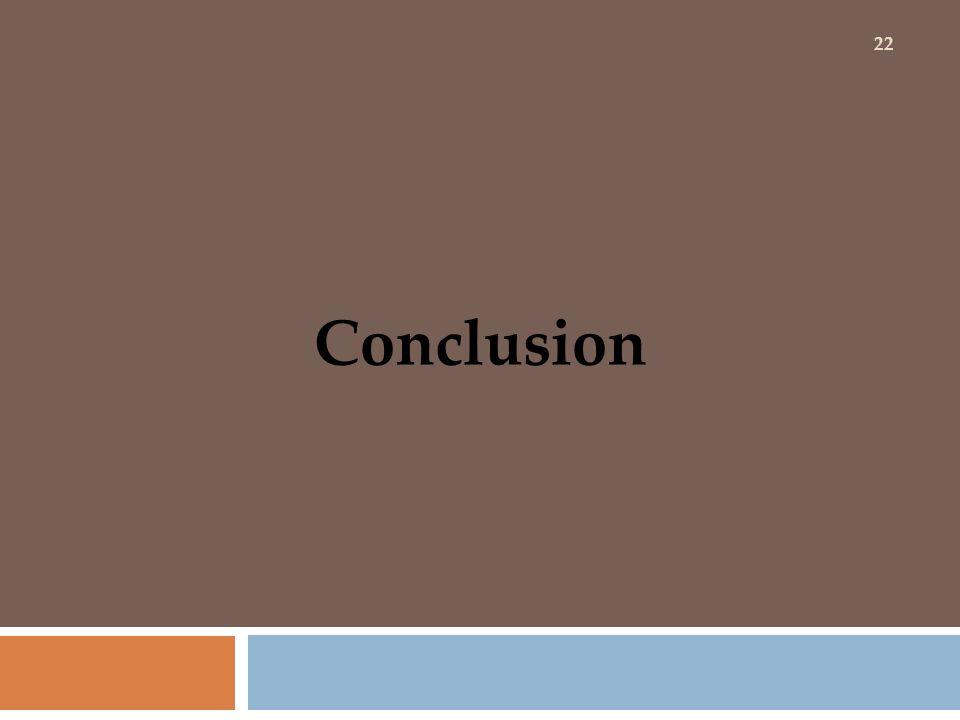 Conclusion 22