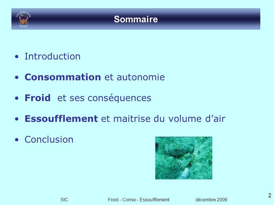 Consomation Froid Essoufflement Stéphane Caumartin Décembre 2009