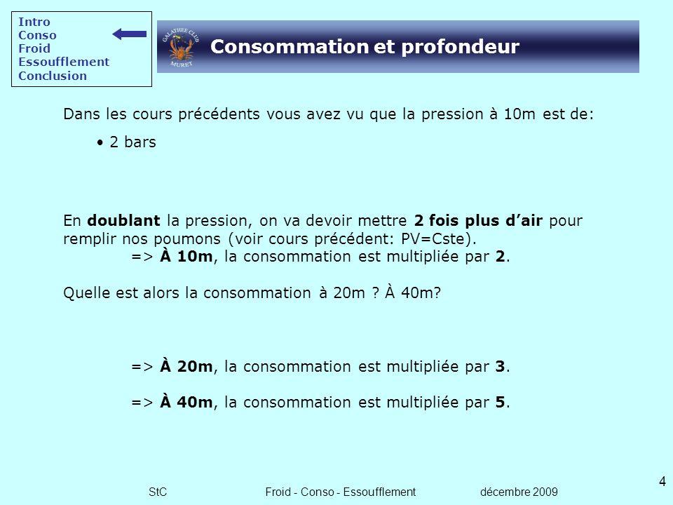 StC Froid - Conso - Essoufflement décembre 2009 3 Introduction Dans les épisodes précédents: Comment gérer l'autonomie du N2. Quels sont les lois phys