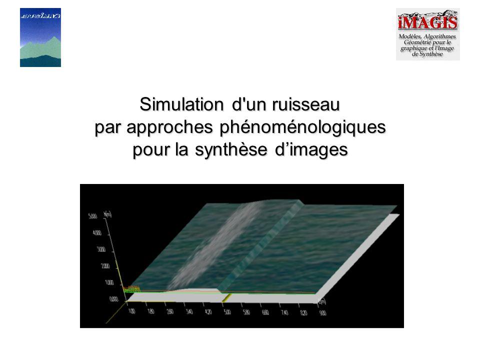 Simulation d un ruisseau par approches phénoménologiques pour la synthèse dimages