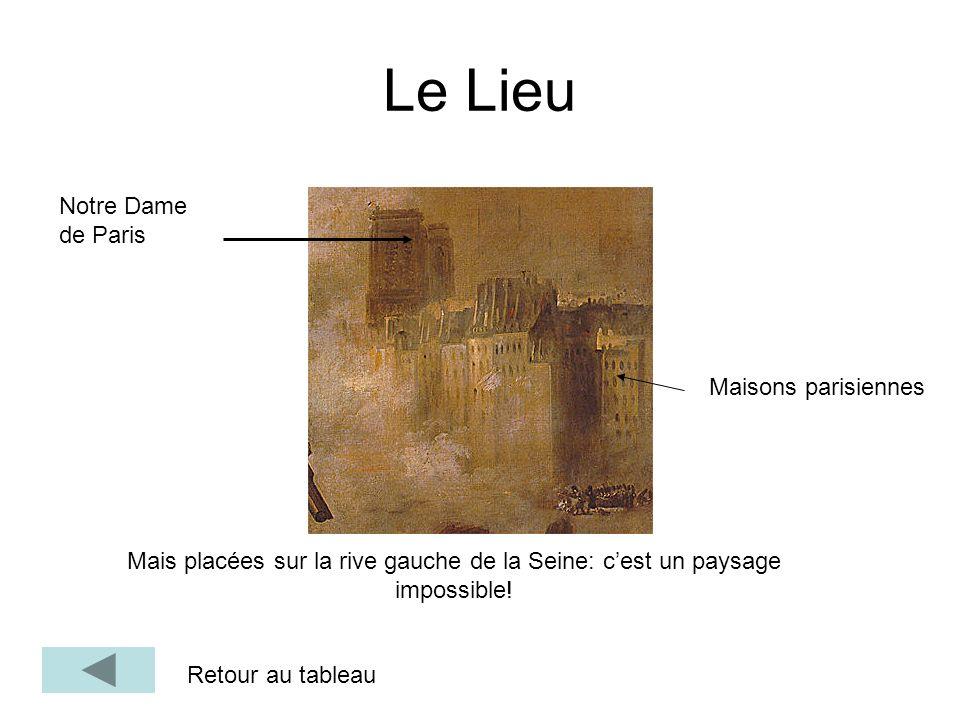 Le Lieu Notre Dame de Paris Maisons parisiennes Mais placées sur la rive gauche de la Seine: cest un paysage impossible! Retour au tableau