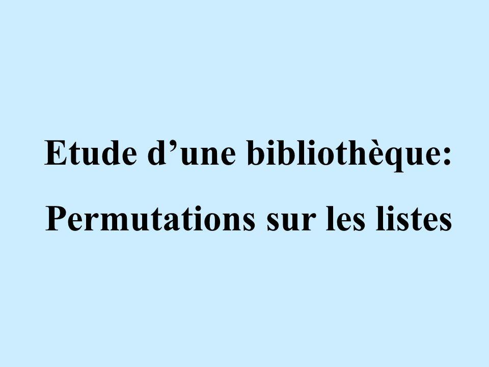 IntroductionPermutationPropriétésListesConclusion 1234 Les permutations standard: - permutations sur un ensemble d entiers naturels.