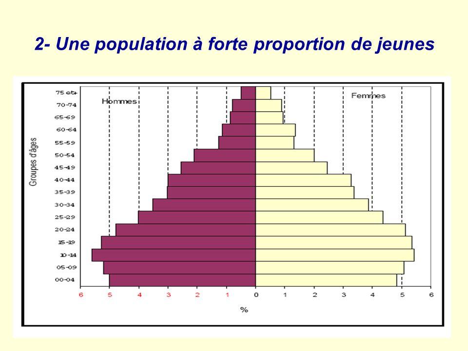 A. EL HIRI 2- Une population à forte proportion de jeunes