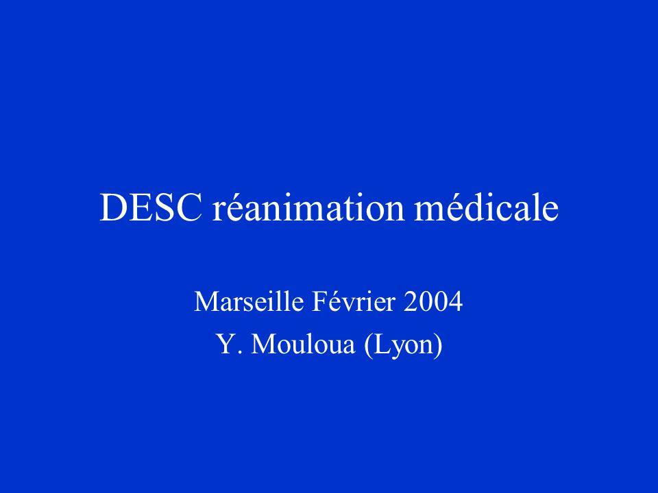 DESC réanimation médicale Marseille Février 2004 Y. Mouloua (Lyon)