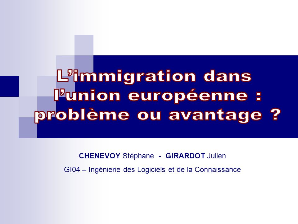 CHENEVOY Stéphane - GIRARDOT Julien GI04 – Ingénierie des Logiciels et de la Connaissance