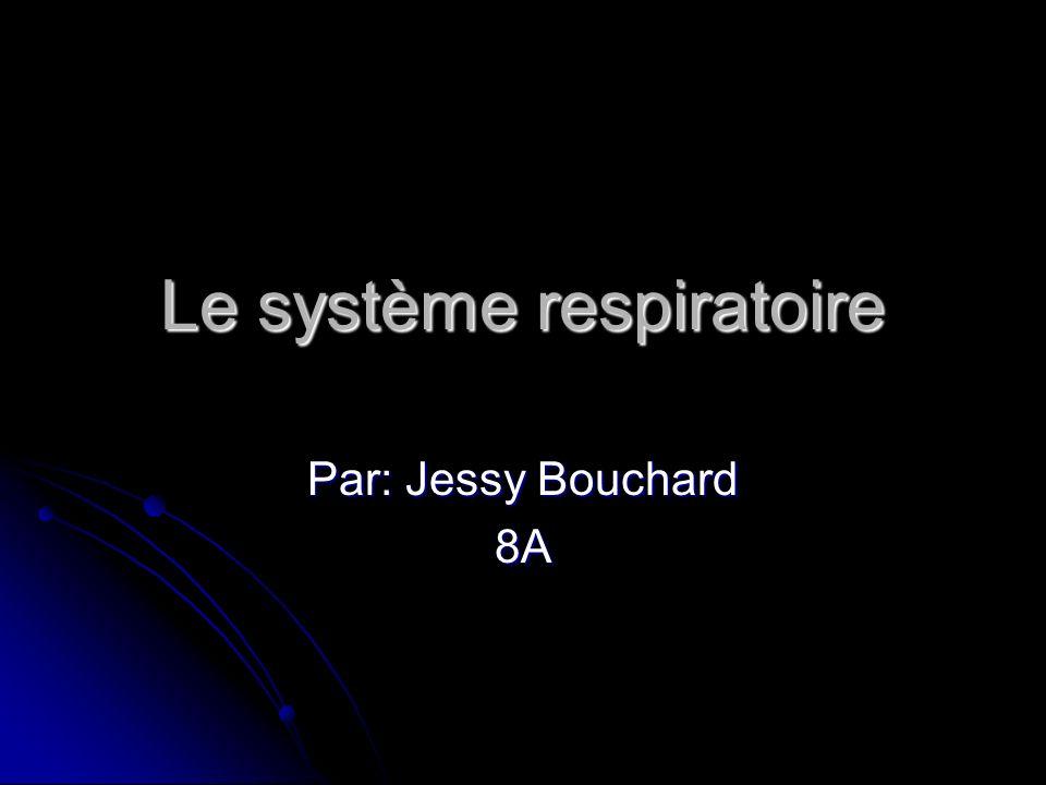 Le système respiratoire Par: Jessy Bouchard 8A