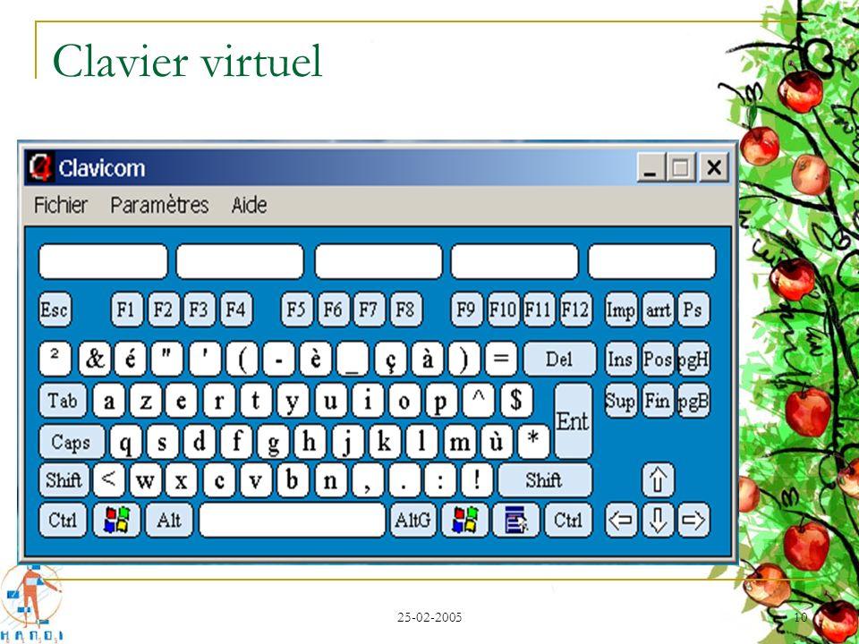 25-02-2005 10 Clavier virtuel