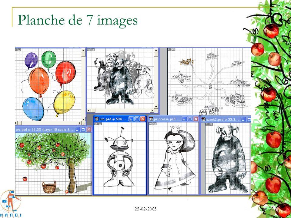 25-02-2005 30 Planche de 7 images