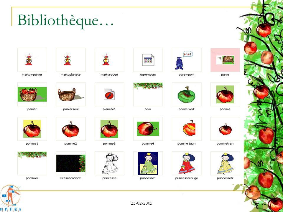 25-02-2005 32 Bibliothèque…