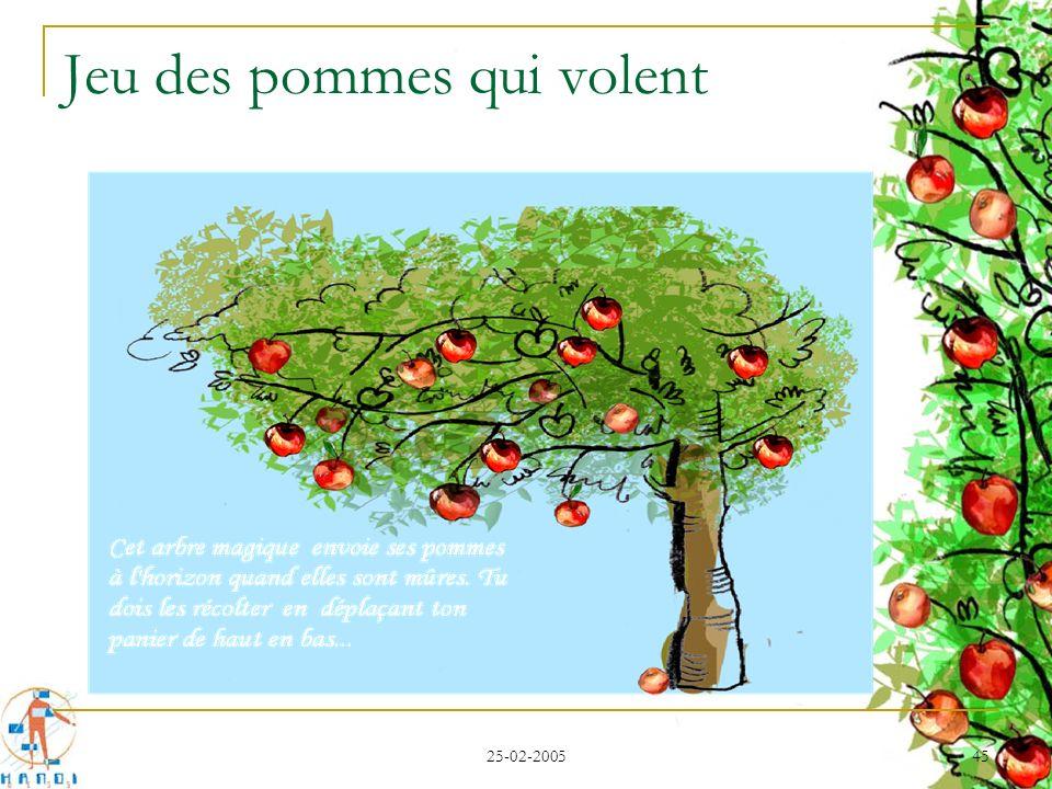 25-02-2005 45 Jeu des pommes qui volent