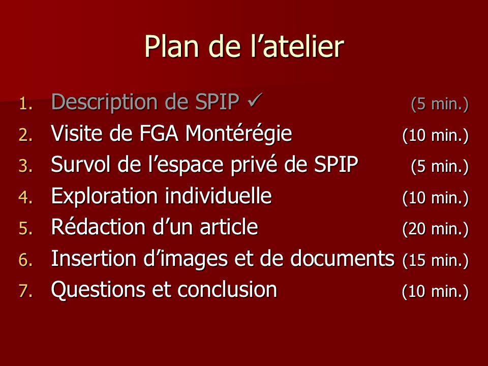 2.Visite deFGA Montérégie 2.