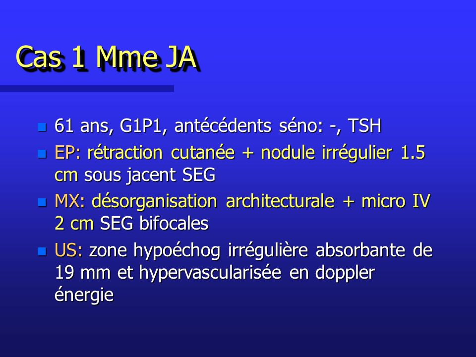Cas 1 Désorganisation + micro IV SEG