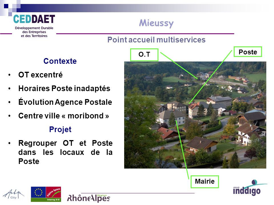Mieussy Point accueil multiservices Des questions pratiques : Validation générale du projet .