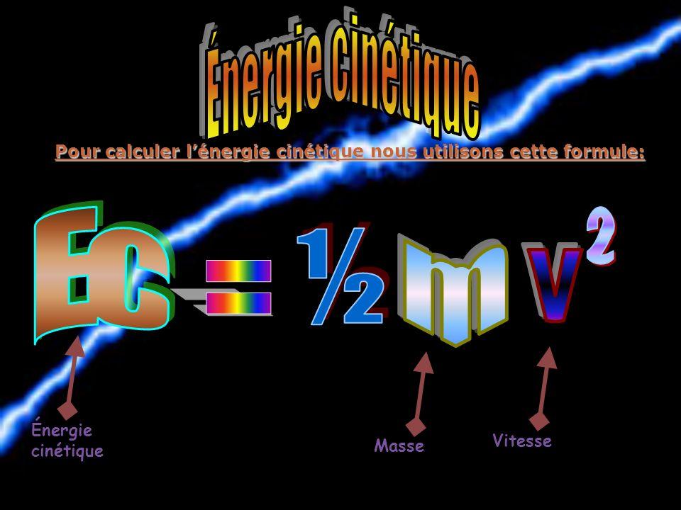 Pour calculer lénergie potentielle nous utilisons cette formule: Énergie potentielle Masse Gravité Hauteur