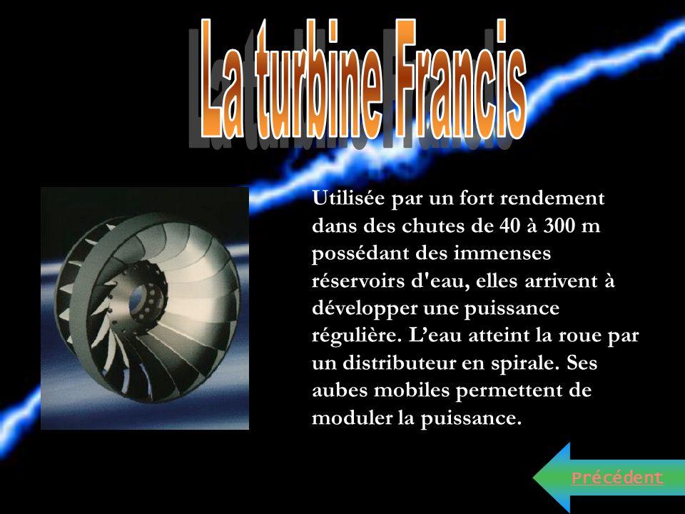 Cliquer sur les types de turbines ou cliquer sur la flèche pour continuer le diaporama. La turbine Kaplan. La turbine Pelton. La Turbine hélice. La tu