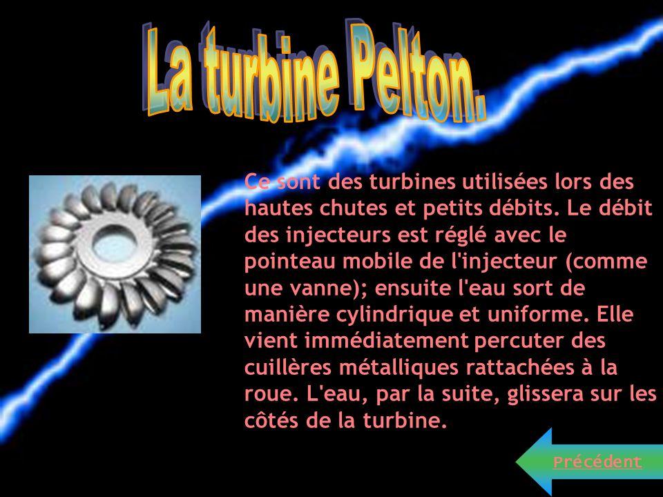 La turbine hélice est constituée dune hélice à pales fixes dont laxe est parallèle au flux. La turbine hélice est bien adaptée aux basses chutes. Elle