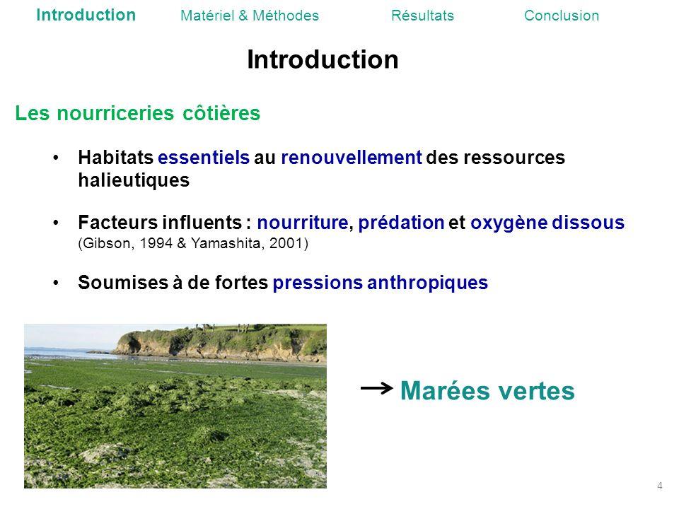 Introduction 4 Les nourriceries côtières Habitats essentiels au renouvellement des ressources halieutiques Facteurs influents : nourriture, prédation