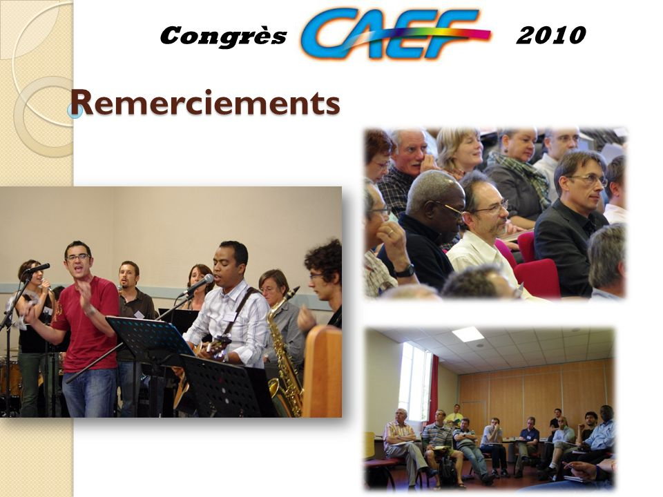 Remerciements Congrès2010