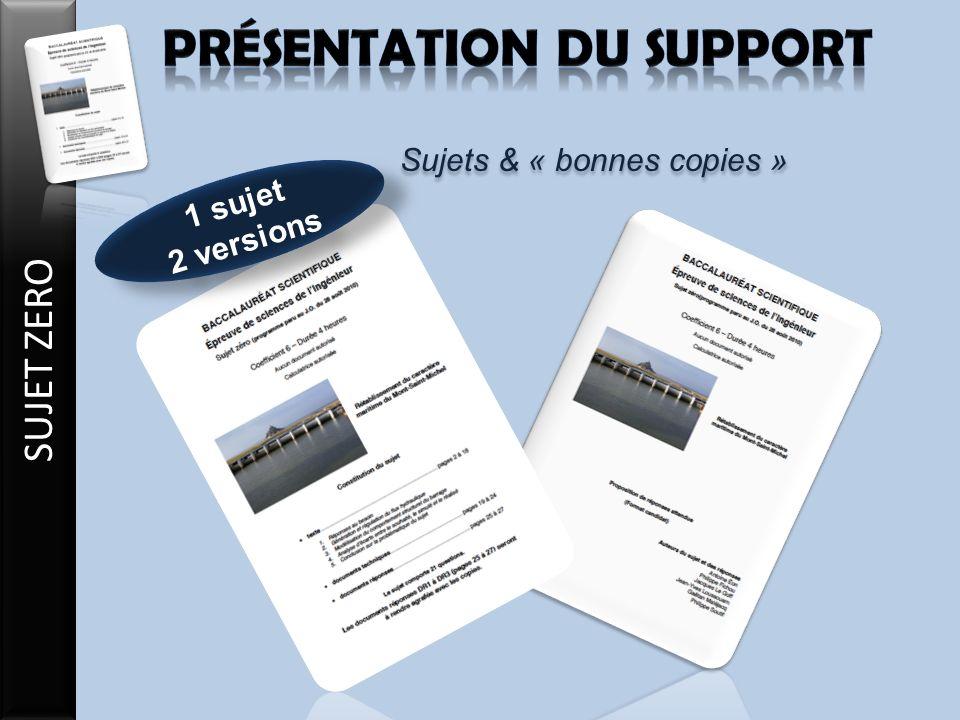 1 sujet 2 versions 1 sujet 2 versions Sujets & « bonnes copies »