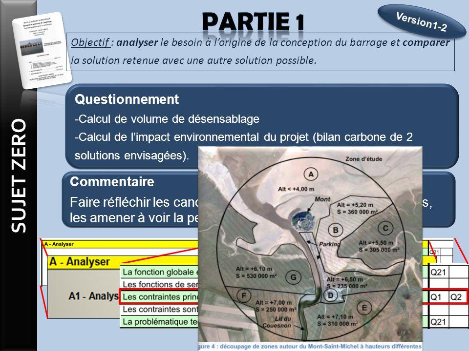 Objectif : analyser le besoin à lorigine de la conception du barrage et comparer la solution retenue avec une autre solution possible.