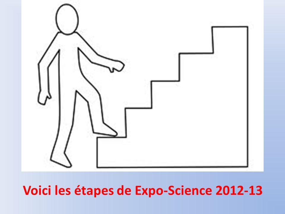 Le présentoire Si tu es choisi pour représenter ta classe, tu présenteras ton projet durant expo-science dans le gymnase.