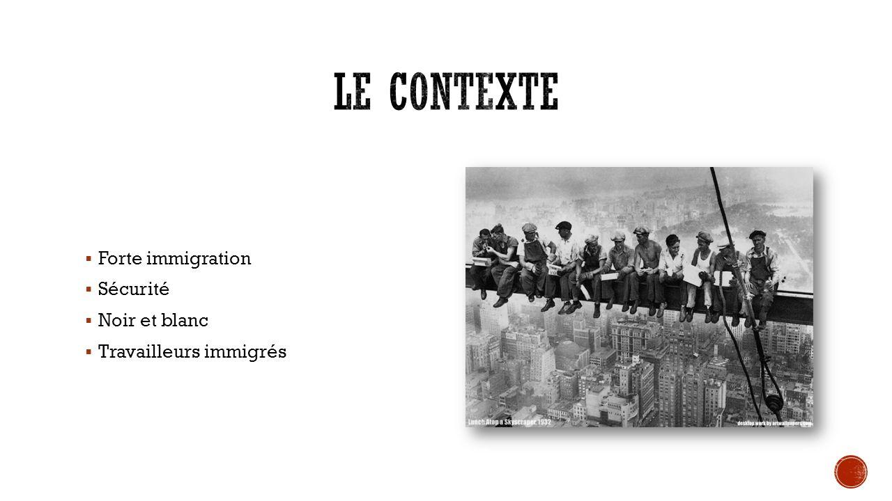 Forte immigration Sécurité Noir et blanc Travailleurs immigrés