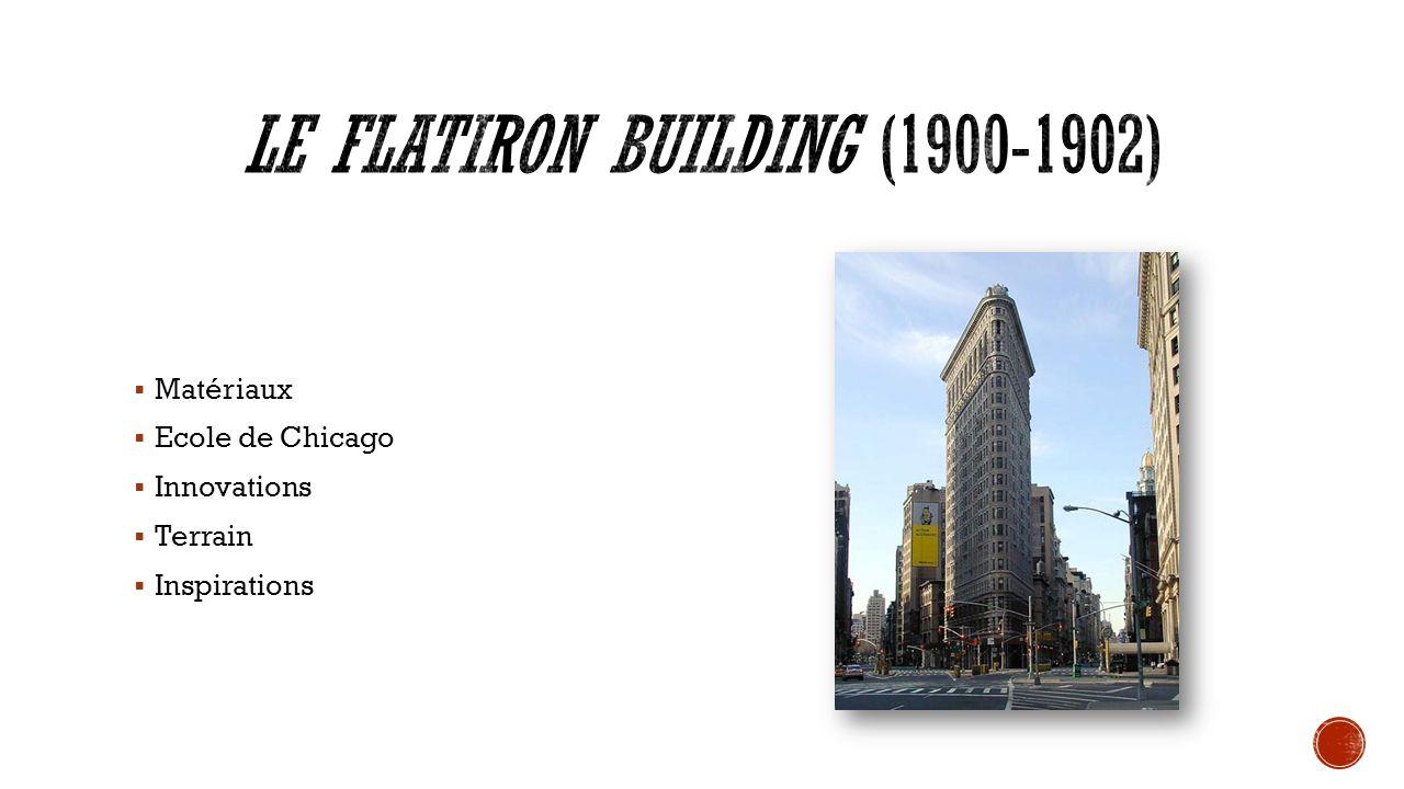 Matériaux Ecole de Chicago Innovations Terrain Inspirations