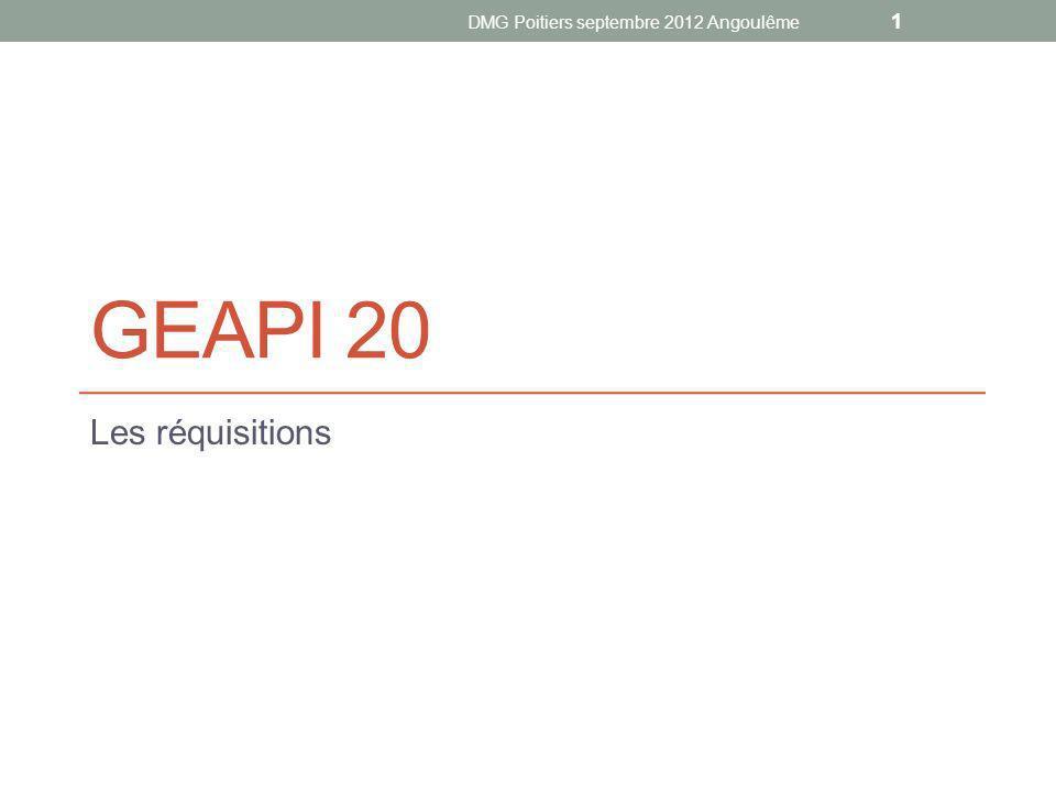 GEAPI 20 Les réquisitions DMG Poitiers septembre 2012 Angoulême 1
