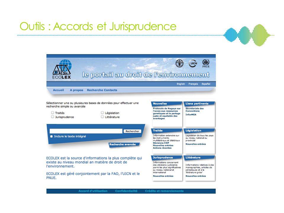 Outils du DIE Accords bilatéraux et multilatéraux Jurisprudence internationale Principes généraux de droit Coutume