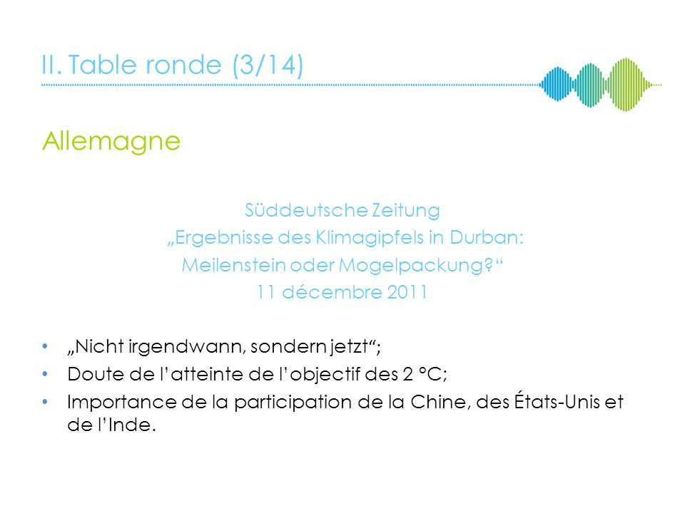II. Table ronde (2/14) France