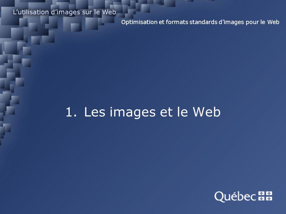 1. Les images et le Web Images vectorielles Optimisation et formats standards dimages pour le Web
