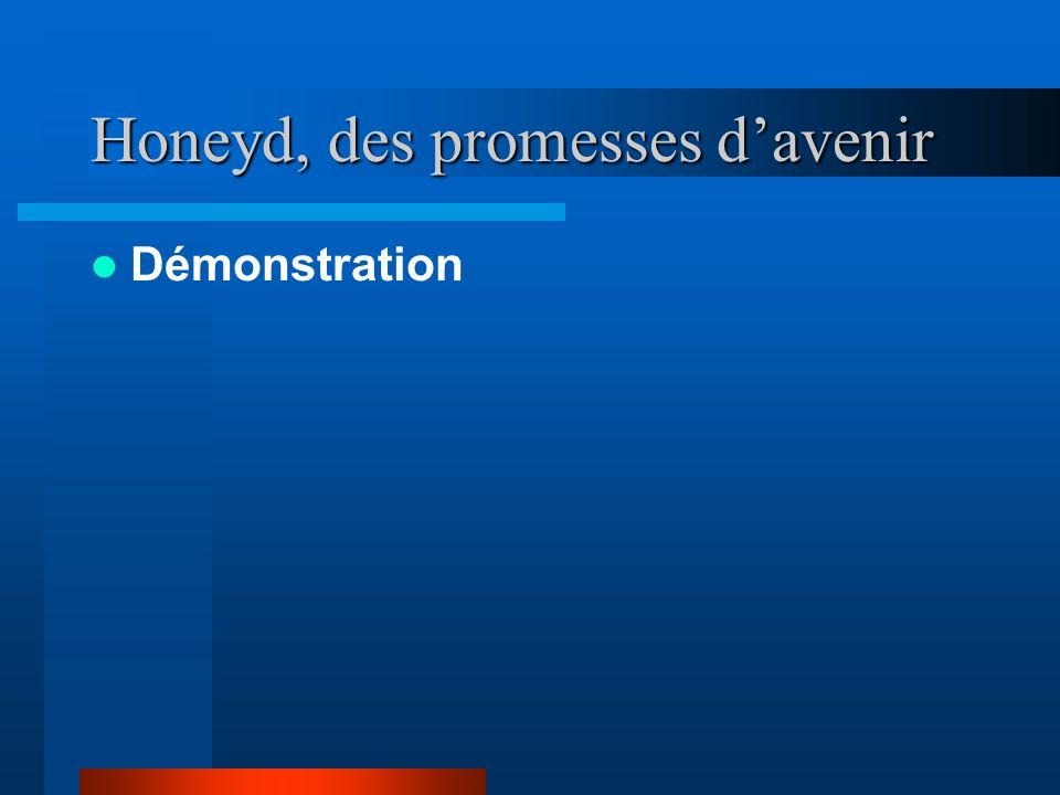 Honeyd, des promesses davenir Démonstration
