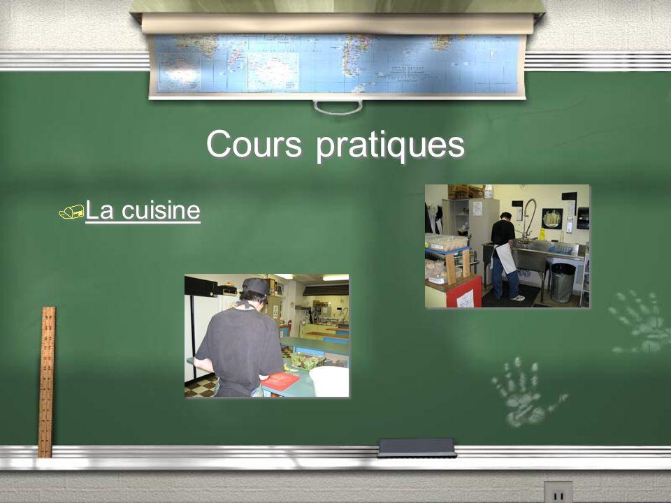 Cours pratiques / La cuisine
