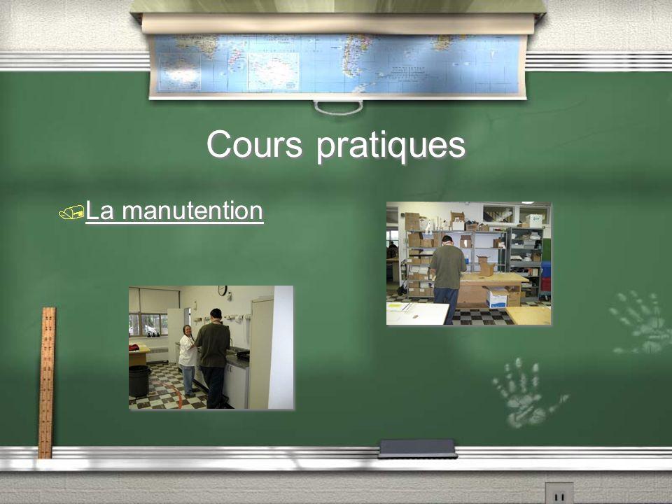Cours pratiques / La manutention