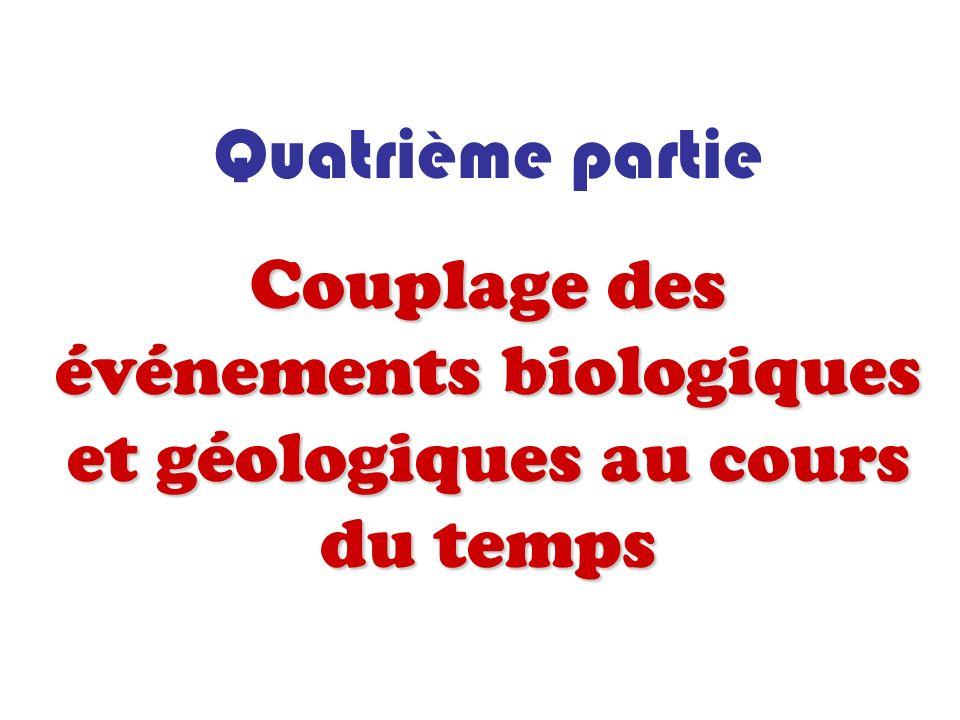 Quatrième partie Couplage des événements biologiques et géologiques au cours du temps