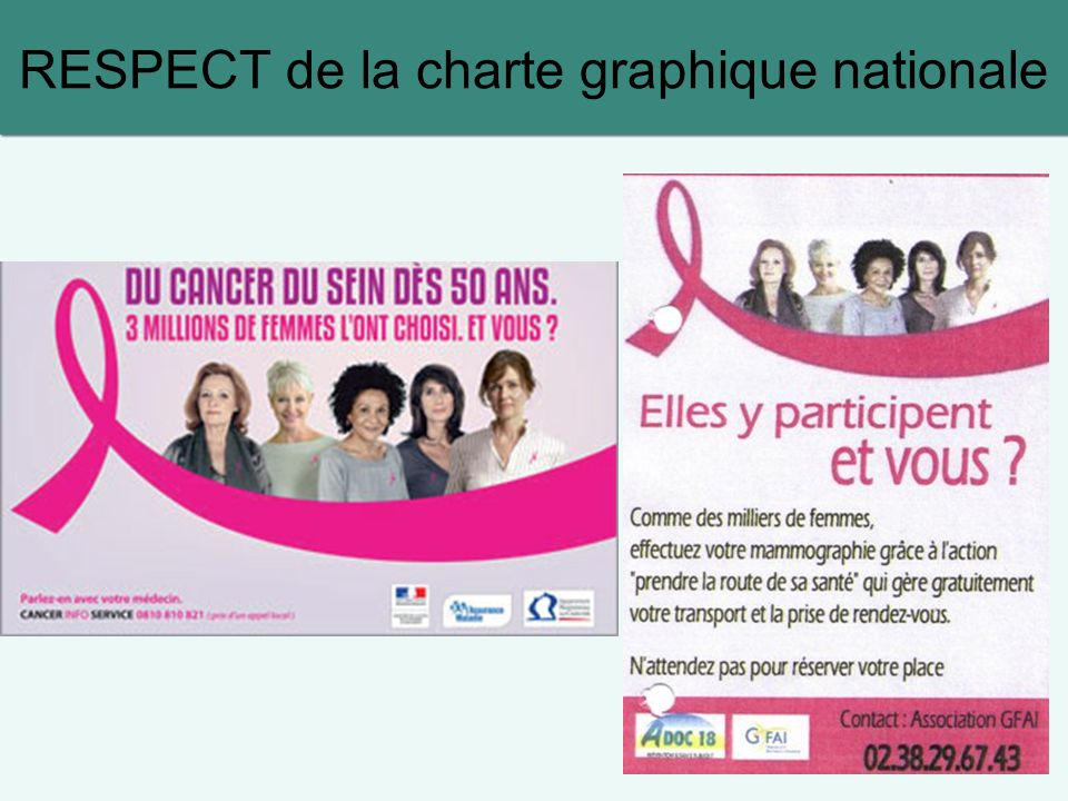 RESPECT de la charte graphique nationale
