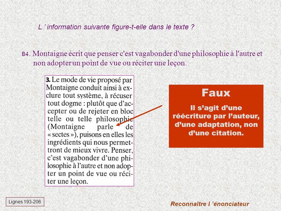 B3.François Busnel écrit que Montaigne est un puzzle.