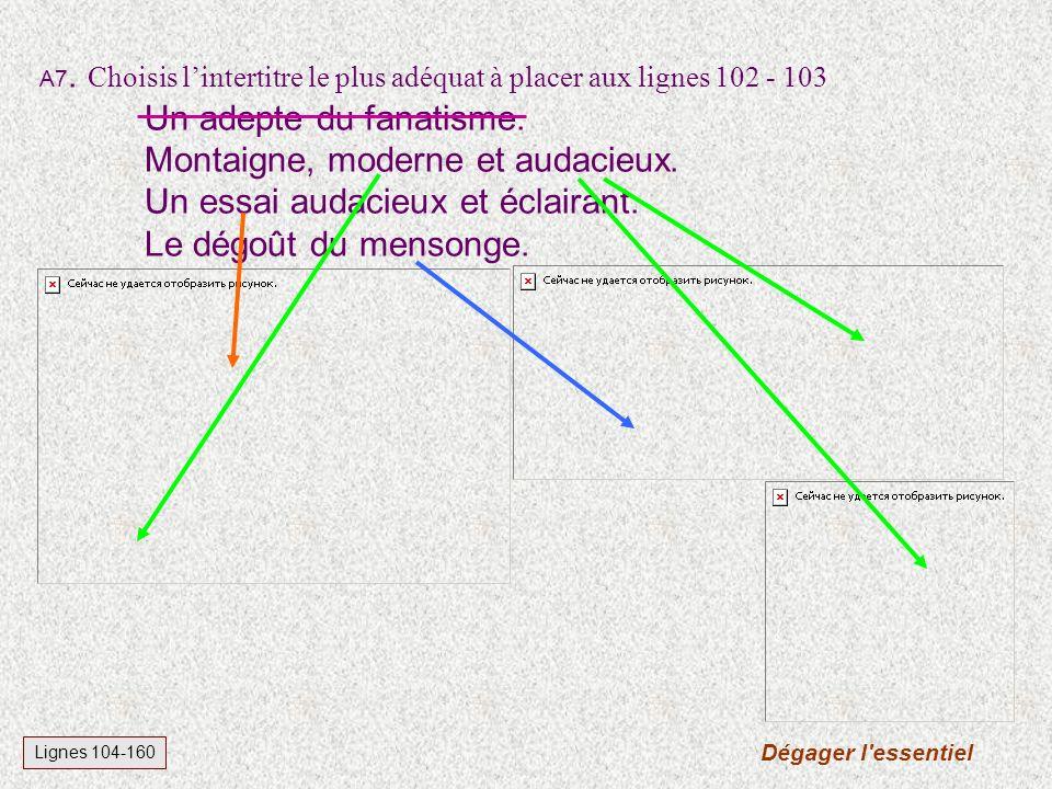 Lignes 10-14 et chapeau A6.Montaigne est mort en 149215921692.