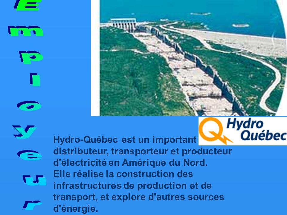 Hydro-Québec est un important distributeur, transporteur et producteur d électricité en Amérique du Nord.