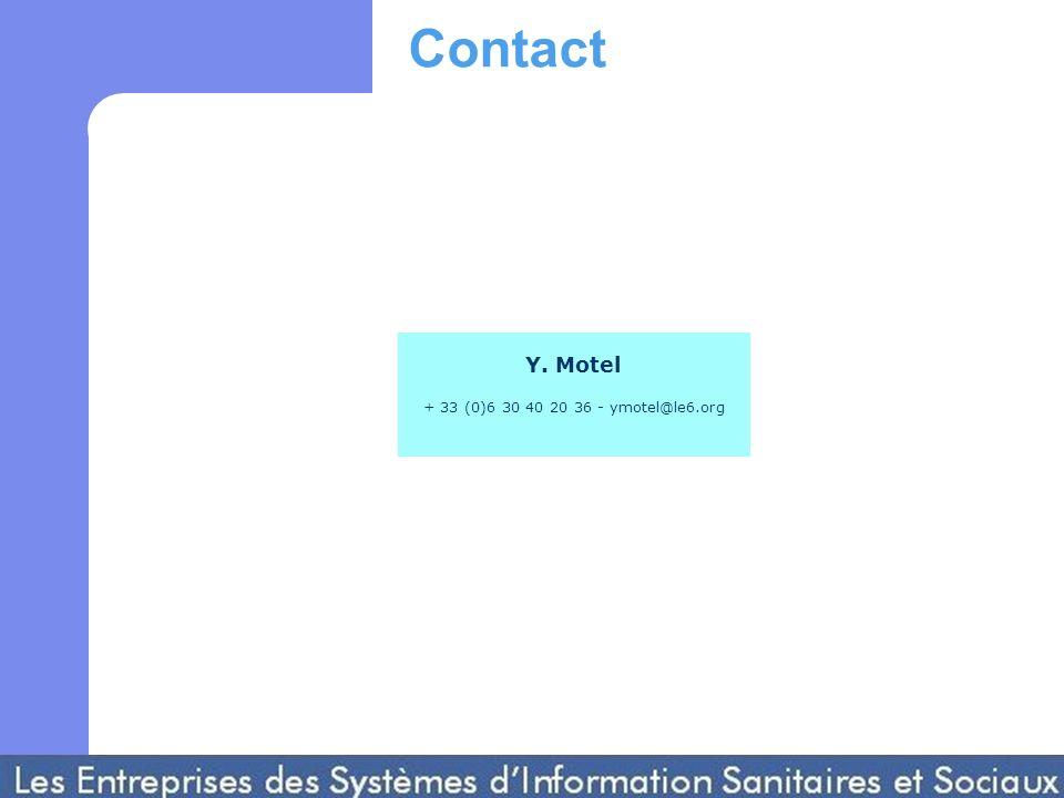 Y. Motel + 33 (0)6 30 40 20 36 - ymotel@le6.org Contact