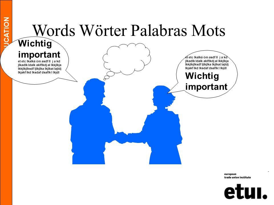 EDUCATION Words Wörter Palabras Mots Wichtig important et etc lkalkä öm asdf ll j a kd jlkadlk ldalk aklflkdj al lkkjlkja lkkjlkjlksdf ljlkjlka lkjlka