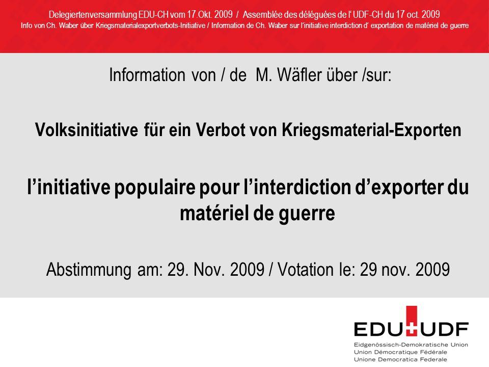 Information von / de M.