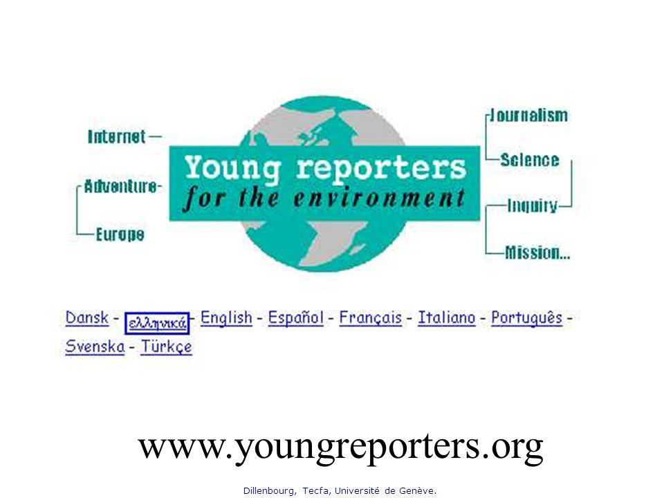 Dillenbourg, Tecfa, Université de Genève. www.youngreporters.org